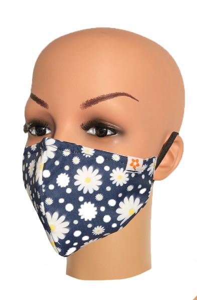 Happy Face Mask - Daisy Navy