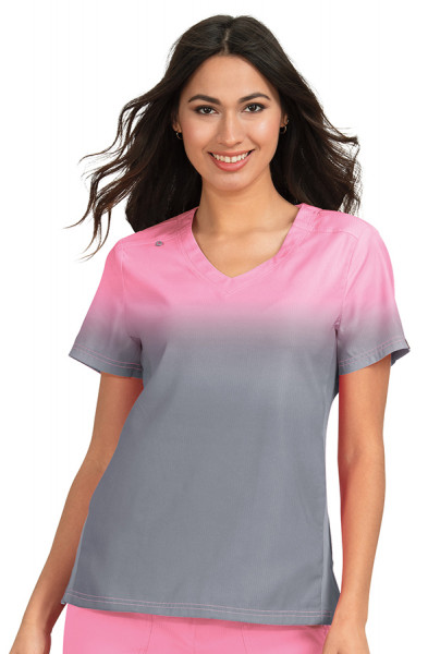 Koi Lite Reform Top in More Pink / Platinum Grey