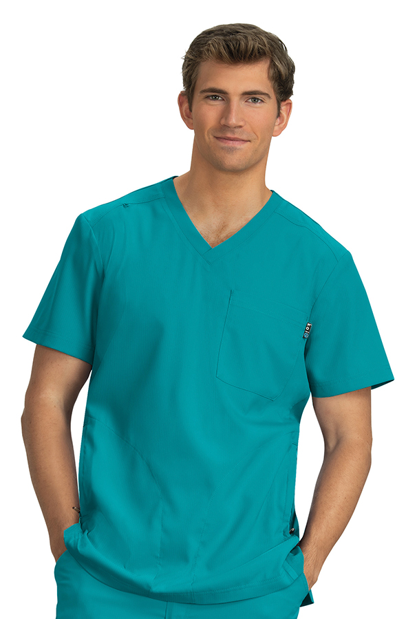 koi-lite-force-scrub-top-teal