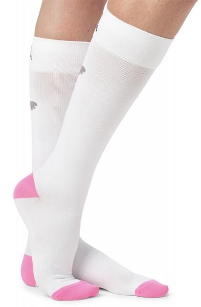 Koi White Compression Socks