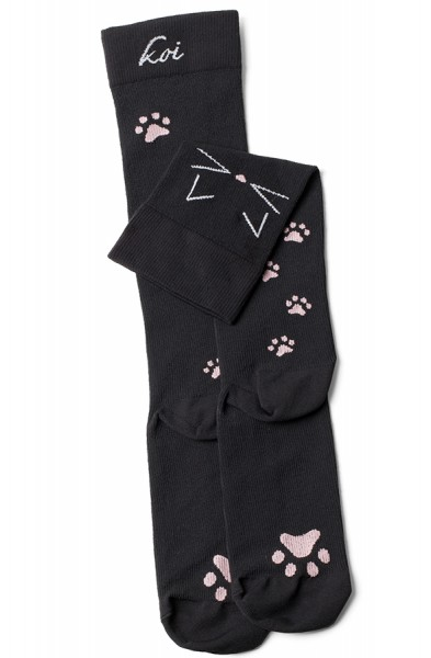 Koi Meow Black Compression Socks