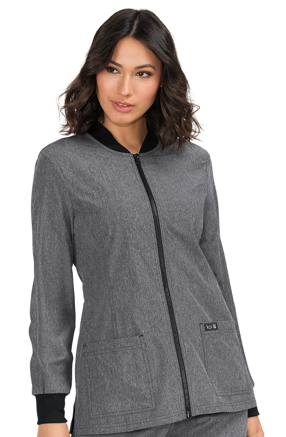 koi-basics-andrea-jacket-heather-grey
