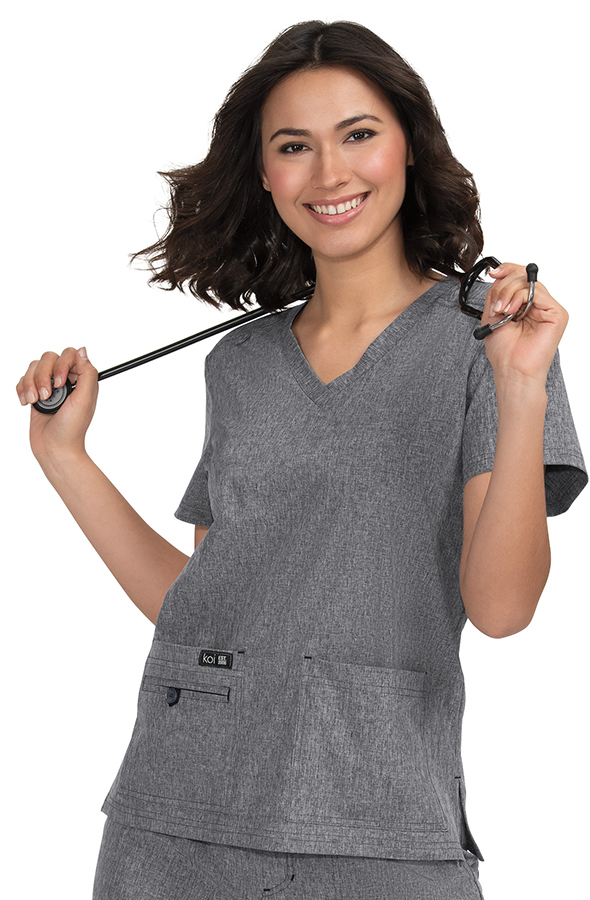 koi-basics-becca-scrub-top-heather-grey