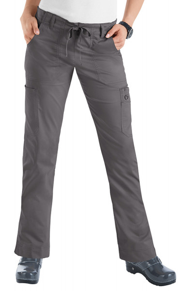 Koi Stretch Lindsey Trousers - Steel