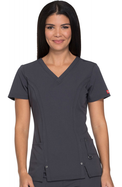 Dickies Xtreme Stretch Scrub Top Dark Pewter