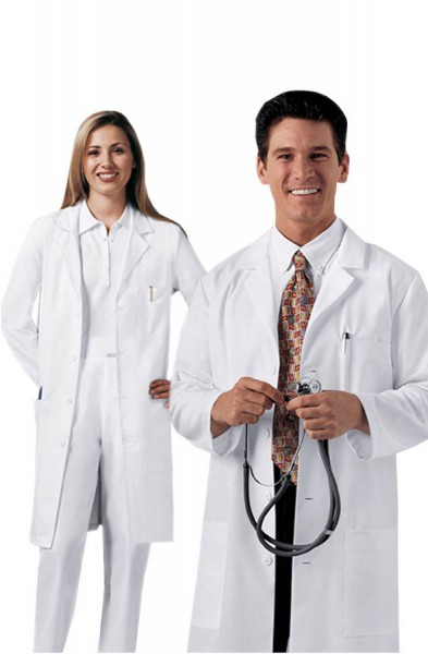 Cherokee Unisex White Lab Coat