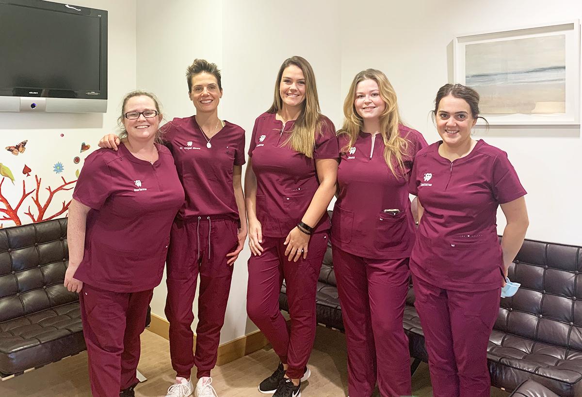 dental-team-wearing-koi-next-gen-scrubs