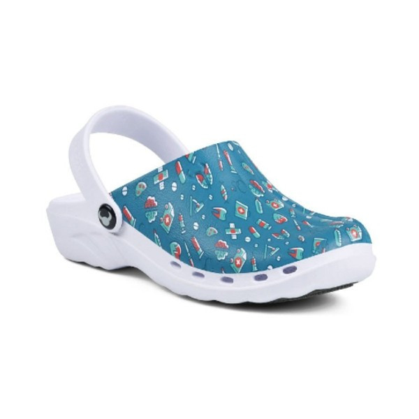 Suecos Oden Print Theatre Clogs - Medical