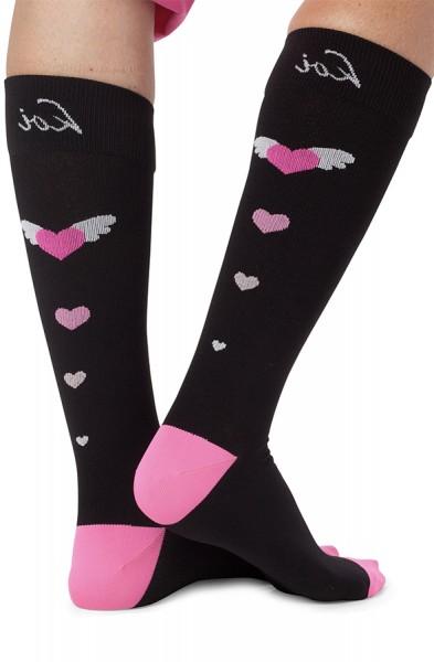 Koi Black Compression Socks