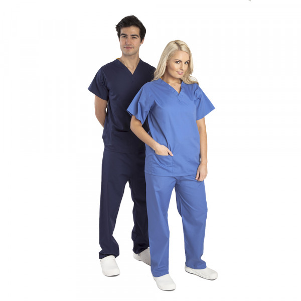 Budget-Scrubs-Unisex-Model-Man-Woman-Front
