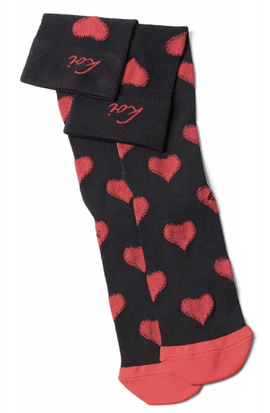 Koi Valentine/Black-Chilli Red Compression Socks