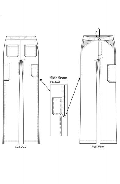 Koi Lite Discovery Scrub Trousers Line Drawing